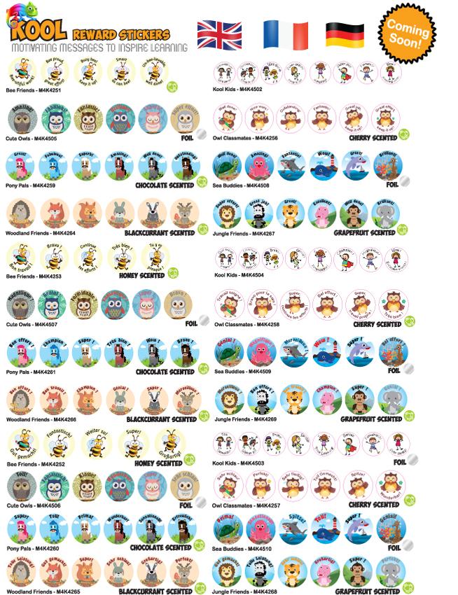 Kool Kids Reward Stickers