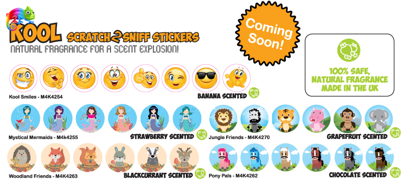 Kool Kids Scented Stickers