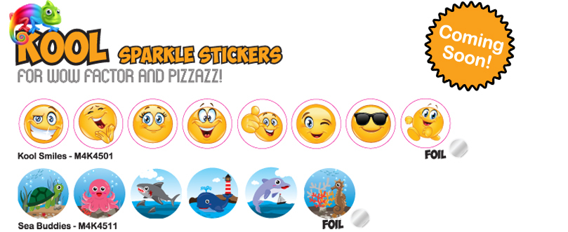 Kool Kids Sparkle Stickers