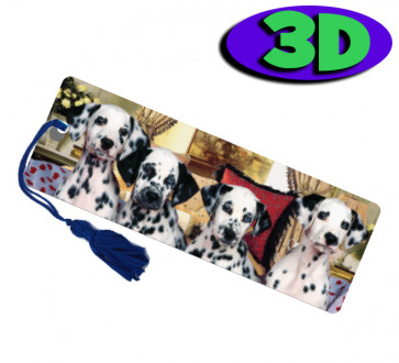 Wholesale 3D Bookmarks | Dalmation Dogs Design, Quality Bookmarks