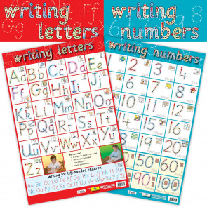 2 in 1 Writing letters & Writing Numbers Wholesale Posters