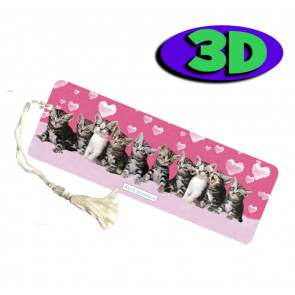 Wholesale 3D Bookmarks | Kitten Love Design, Quality Bookmarks
