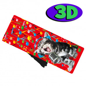Wholesale 3D Bookmarks | 3D Kitten Karaoke Wholesale Bookmarks