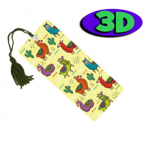 Wholesale 3D Bookmarks | Lovely Llamas Design, Quality Bookmarks