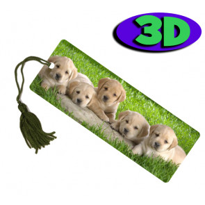 Wholesale 3D Bookmarks | Lazy Lab Pups Design, Quality Bookmarks