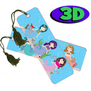 Wholesale 3D Bookmarks | Mystical Mermaids Design, Quality Bookmarks