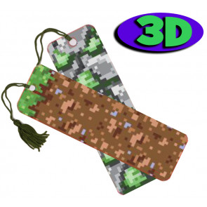 Wholesale 3D Bookmarks | Pixel Camouflage Design, Quality Bookmarks