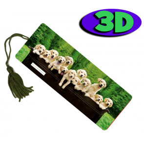 Wholesale 3D Bookmarks | Labrador Pups Lineup! Design
