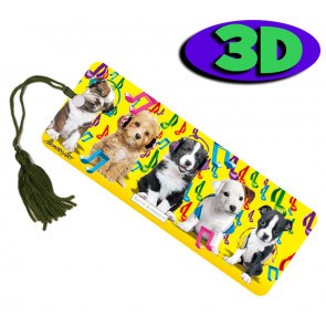 Wholesale 3D Bookmarks | Musical Puppies Design, Quality Bookmarks