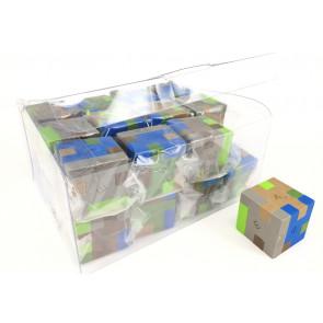 Bulk Stationery | Kids Erasers | Camouflage Pixel Block Puzzle Erasers
