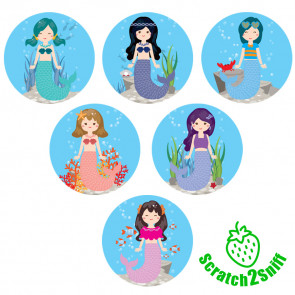 Kool Kids Stickers | Mystical Mermaids Scented Wholesale Stickers for Trade