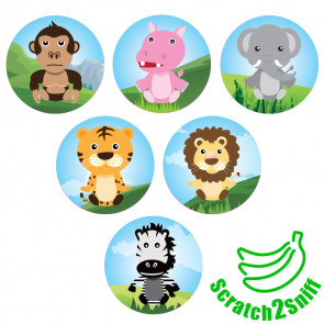 Kool Kids Stickers | Jungle Friends Scented Wholesale Stickers for Trade