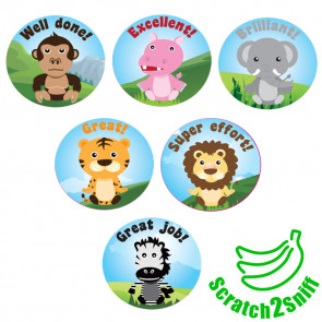 Kool Kids Stickers | Jungle Friends Scented Reward Stickers. Wholesale Trade Stickers