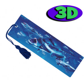 Wholesale 3D Bookmarks | Shark Attack Design, Quality Bookmarks