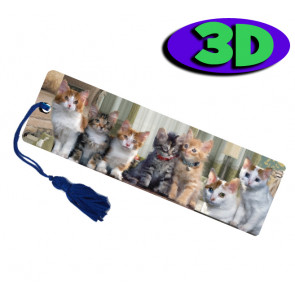 Wholesale 3D Bookmarks | Cute Cats Design, Quality Bookmarks
