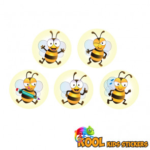 Kool Kids Stickers | 10mm Bee Friends Kool Kids Wholesale Stickers - Sticker Designs