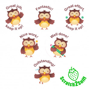 Kool Kids Stickers | Owl Classmates Scented Reward Stickers. Wholesale Trade Stickers