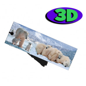Wholesale 3D Bookmarks | Polar Bears Design, Quality Bookmarks