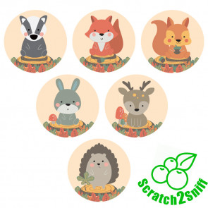 Kool Kids Stickers | Woodland Friends Scented Wholesale Stickers for Trade