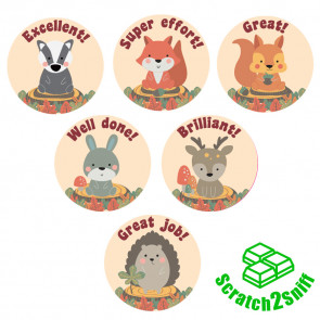 Kool Kids Stickers | Woodland Friends Scented Reward Stickers. Wholesale Trade Stickers